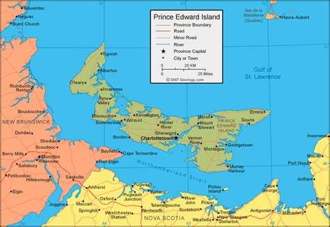 map of islands prince edward island map satellite image roads lakes