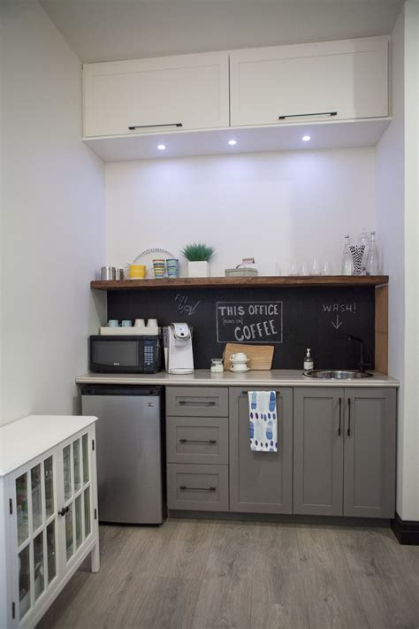 small kitchenette hallway finished space pulled areas office cabinet colour