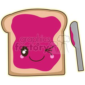 royalty free jam on toast cartoon character vector clip