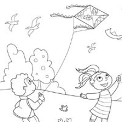 wind day colouring pages