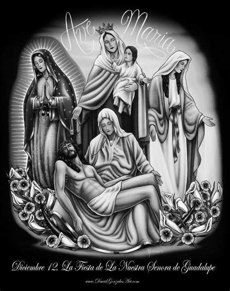 ave maria tattoo sketch best tattoo designs