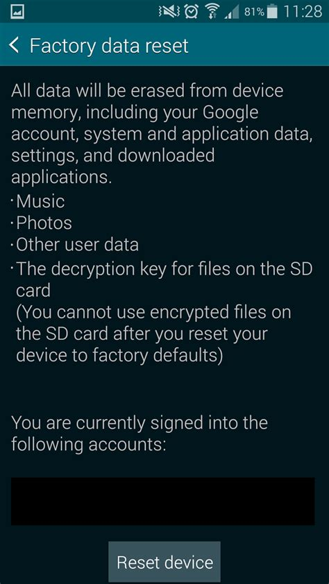 reset android galaxy s5 how to factory reset the galaxy s5