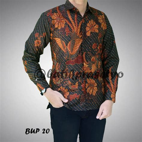 Batik Pria Katun Motif Burung batik pria motif burung bup 20 batik aqila
