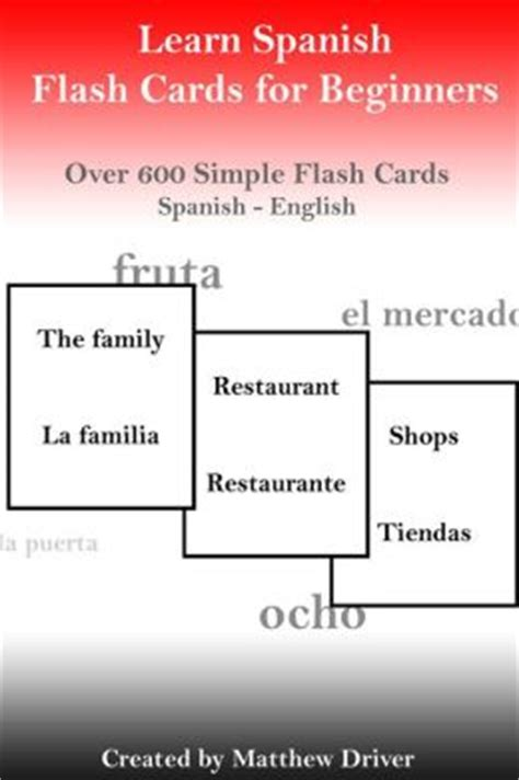 Buy Nook Books With Gift Card - learn spanish flash cards for beginners by matthew driver 2940033154043 nook book