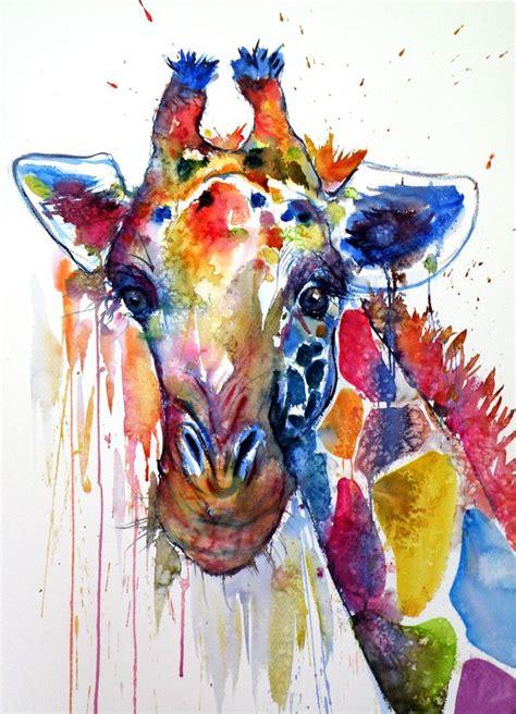Drawing Or Painting by Saatchi Big Giraffe Painting By Kovacs Brigitta