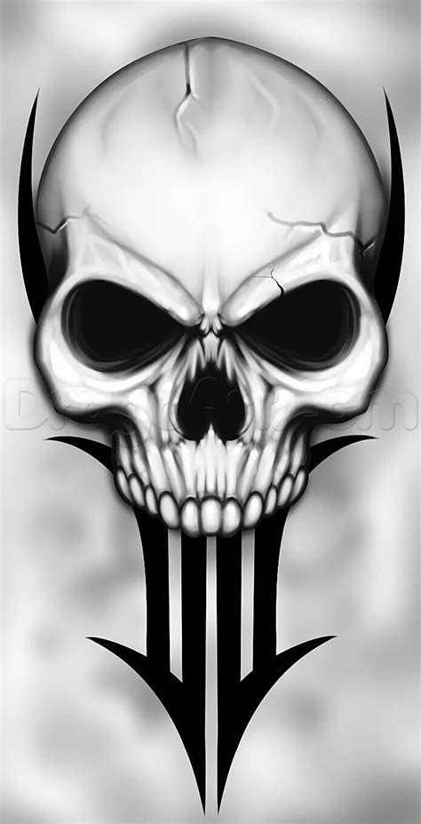 pin  vance   skulls skulls drawing skull skull