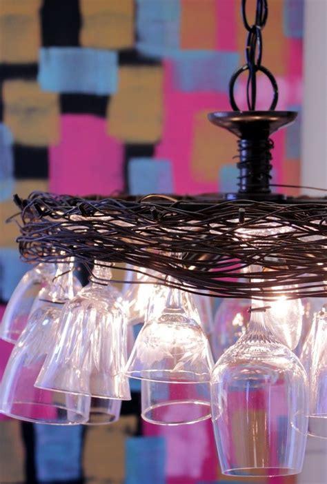 Diy Wine Glass Chandelier Best 25 Wine Glass Chandelier Ideas On Pinterest Wine Glass Shelf Glass Chandelier And
