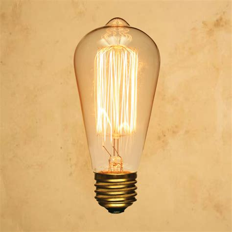 old light bulbs st64 edison style light squirrel cage vintage