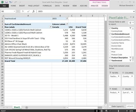 excel pivot table excel with pivot tables inventory accounting erp software