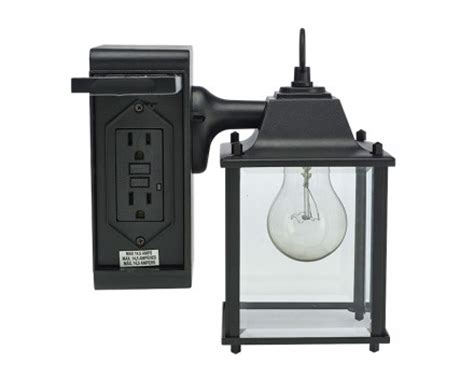 outdoor light fixture with gfci outlet outdoor wall light with built in outlet home decor
