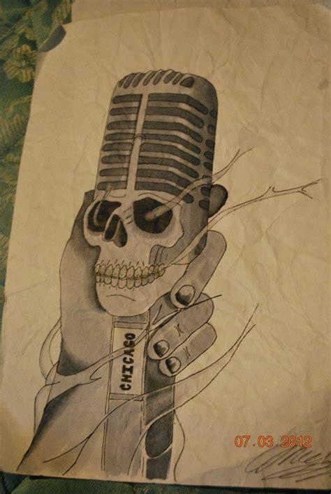 microphone tattoo sketch chicago microphone tattoo sketch best tattoo designs