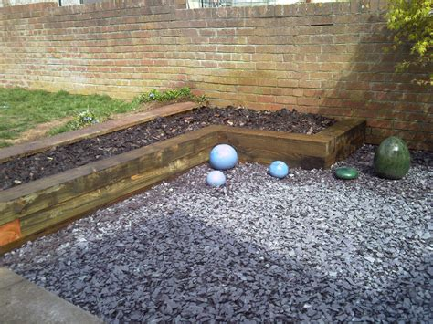 Railway Sleepers Bristol by Railway Sleepers As Garden Features J B Lanscapes