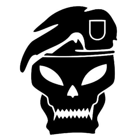 the gallery for gt green beret skull logo