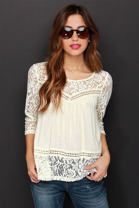 Keira Top Lace Blouse Hijaber everything around me lace top lace top fitted bodice and washing