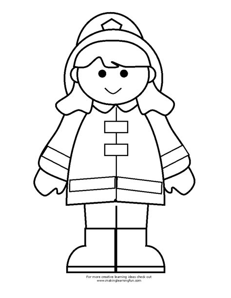 Free Coloring Pages Of Fireman Clipart Firefighters Coloring Pages