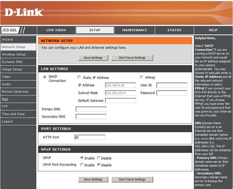 d link ip setup dcs 930l dlink products configuration and installation