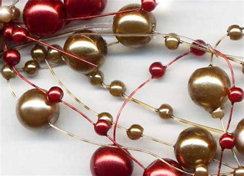 christmas burgundy gold and pearls antique gold burgundy pearl garland