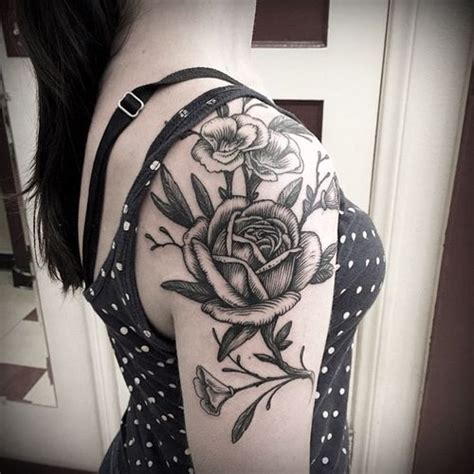 40 stunning rose sleeve tattoos flower tattoo ideas