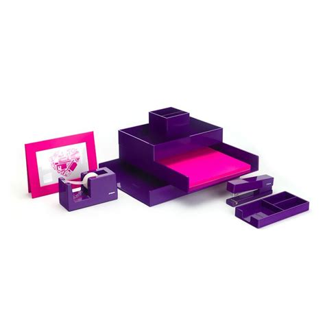 purple desk accessories purple desk accessories purple starter set modern desk