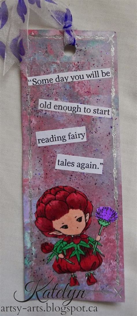 Handmade Tale - tales handmade bookmark by katelyn cards