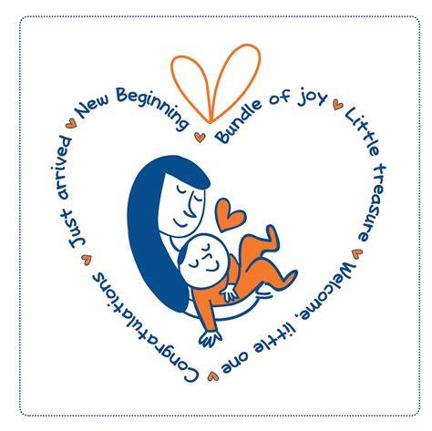new baby greetings card by merci maman