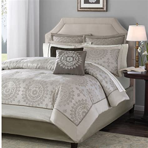 madison park tiburon 12 piece jacquard comforter set king