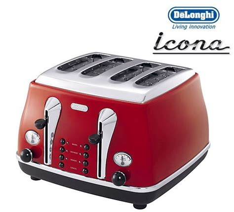 Delonghi Toaster Warranty Delonghi Icona Retro 4 Slice Scarlet Red Toaster Cto4003r