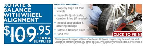 tire alignment coupon