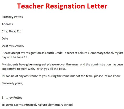 Resignation Letter To Superintendent Resignation Letter Template October 2012
