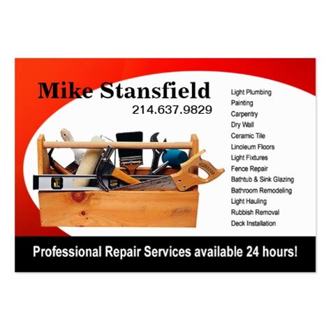 home repair handyman business card templates create your own painter business cards page5