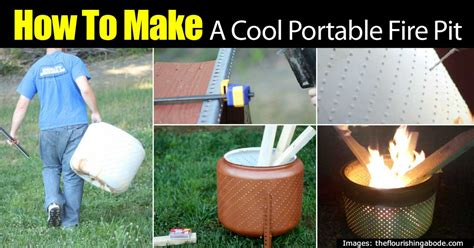 how to make home decorations how to make a cool portable fire pit on the cheap diy