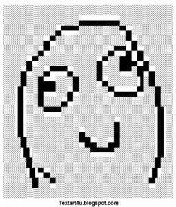 Text Art Memes - quot derp smile meme face quot text art cool ascii text art 4 u