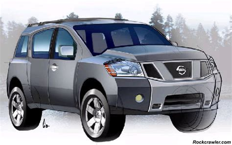 vehicle repair manual 2007 nissan armada electronic toll collection rockcrawler com nissan releases sketch of all new 2004 pathfinder armada full size suv