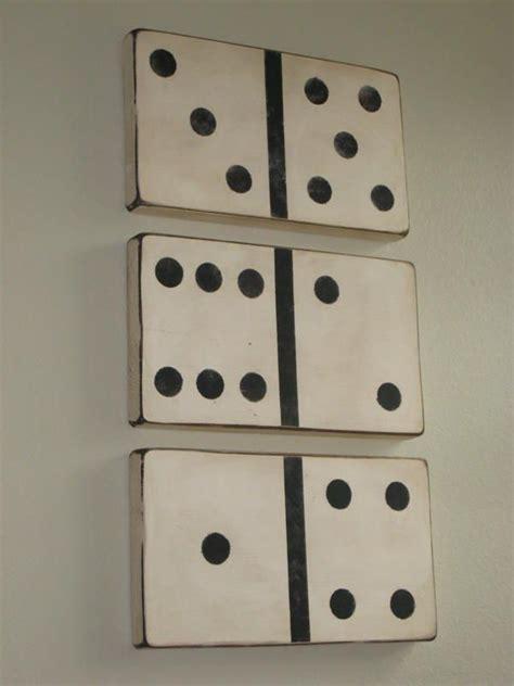 game room wall decor ideas ashley s large vintage looking dominoes tutorial bonus