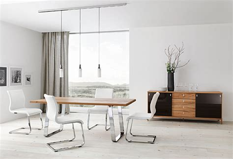 modern white dining room table decorating with chrome furniture