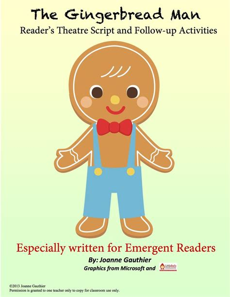 gingerbread man printable emergent reader the gingerbread man readers theater for emergent readers