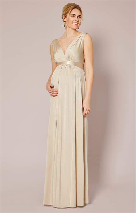 Anastasya Maxy Pink maternity gown gold dust maternity wedding