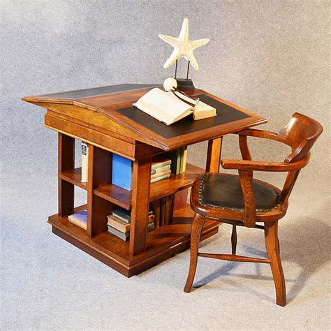 Reading Table With Bookshelf bookcase writing desk library reading table antiques atlas