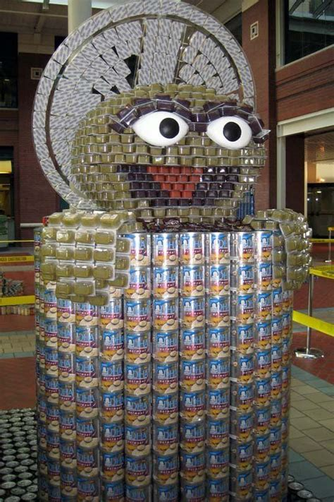 how to build a canned food sculpture look canstruction