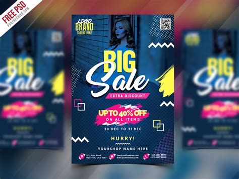 Sale Sweater Printing Tropica Premium sale flyer template psd psd