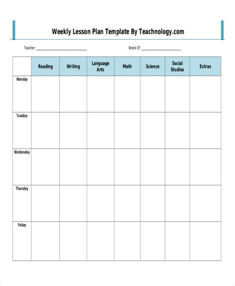 Special Education Weekly Lesson Plan Template by Sle Weekly Lesson Plan Special Education Weekly Lesson