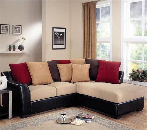 modern microfiber sectional modern microfiber sectional sofa vinyl base 501895 beige