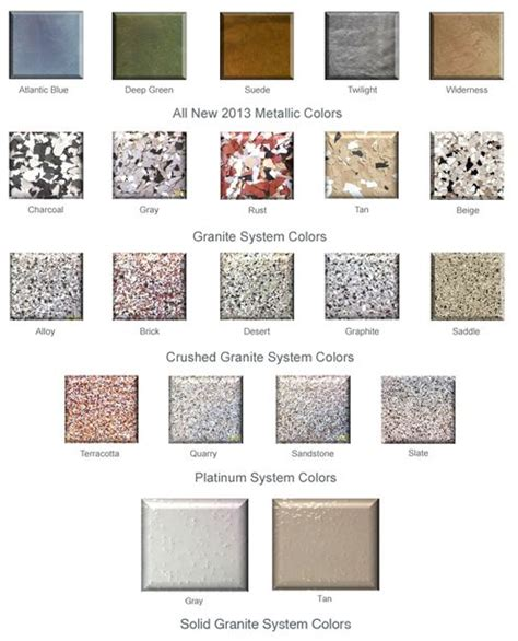 floorguard epoxy color chart concrete stain colors colors charts and epoxy