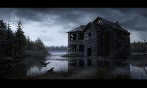 haunted house hd wallpapers background images