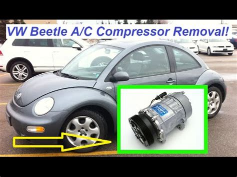 automobile air conditioning repair 2010 volkswagen new beetle instrument cluster vw beetle a c compressor removal and replacement beetle air conditioning compressor youtube
