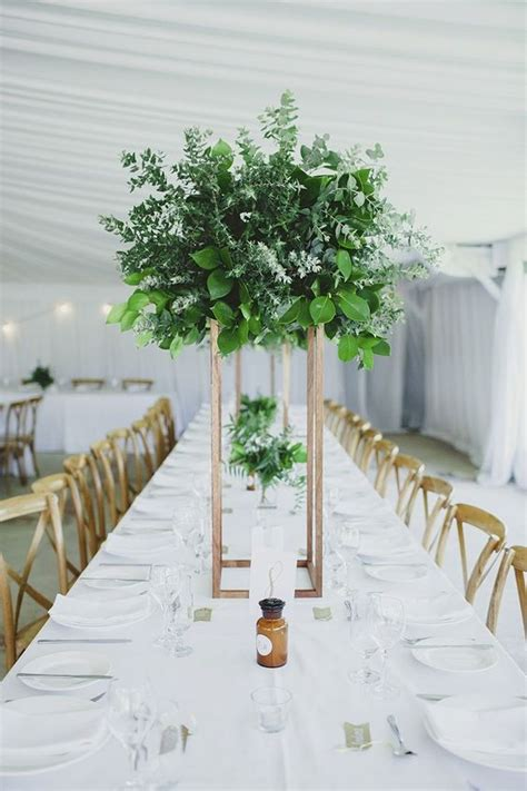greenery for wedding centerpieces 27 trendy botanical wedding table d 233 cor ideas weddingomania