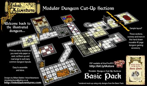 dungeon floor plans pdf map layout and free crypt room inked adventures basic