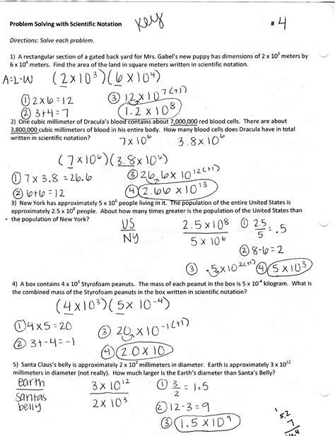Word Problems Using Scientific Notation Worksheet by Dividing Scientific Notation Word Problems Worksheet