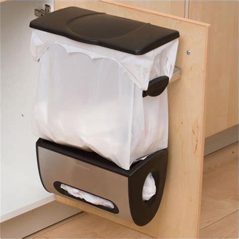 trash can attached to cabinet door 5 space saving solutions to mount inside kitchen cabinet