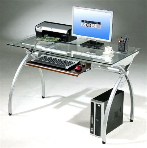 44 inch wide computer desk w tempered computer desks